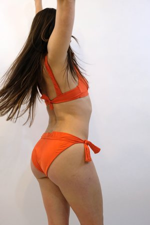SIDWAY The Vivian Side Tie Bikini Bottom - Poppy