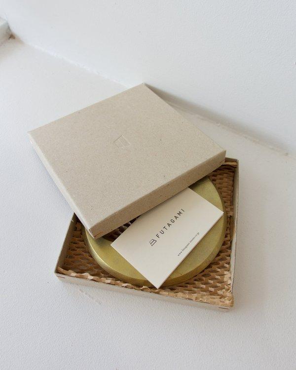 FUTAGAMI Brass Trivet / Pot Holder - Moon