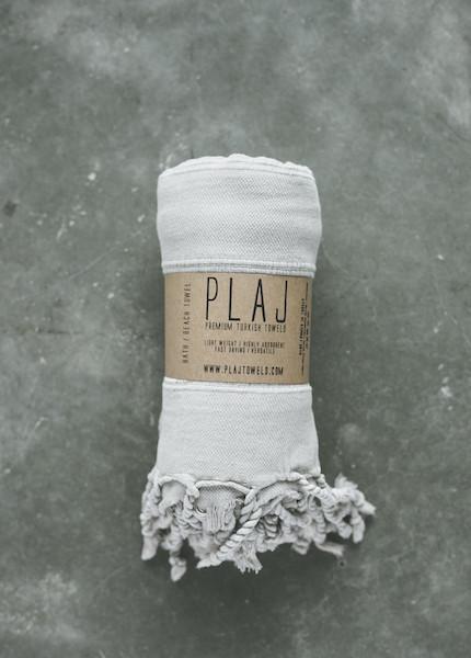 Plaj - Texada Stone Washed Towel in Denim, Light Grey or Black