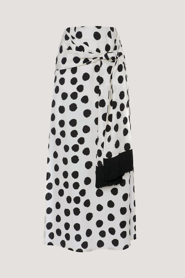 Mother of Pearl Kate Skirt - White/Black