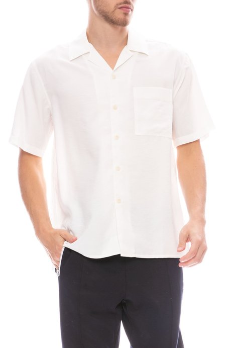 AMI Button Down Camp Shirt - ECRU