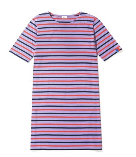 Kule The Tee Dress - Purple/Poppy/Navy