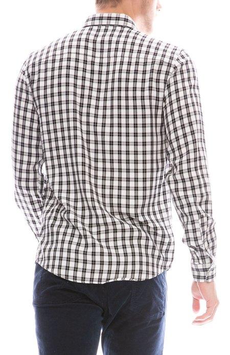 AMI Plaid Button Down Shirt - NOIR/ECRU
