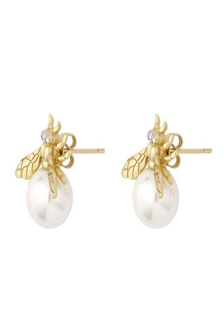 Camila Carril Aurelia Bee Pearl Earrings (Pair) - 14k Gold