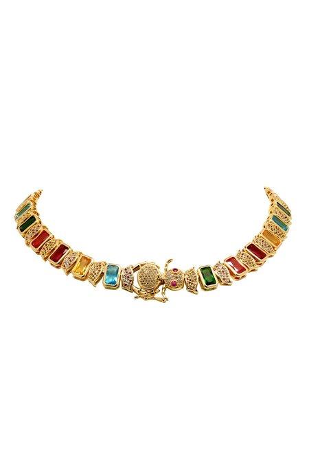 Camila Carril Elizabeth Caterpillar Necklace - Gold