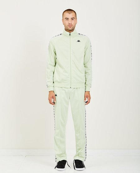 KAPPA 222 BANDA ANNISTON TRACK JACKET - GREEN/GREY