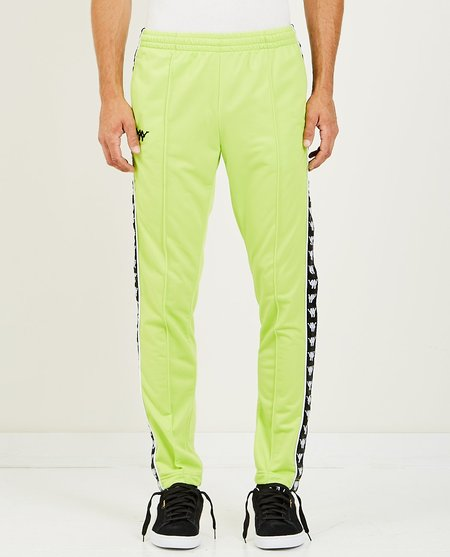 KAPPA AUTHENTIC BASCILE UP & DOWN TRACK PANT - GREEN LIME