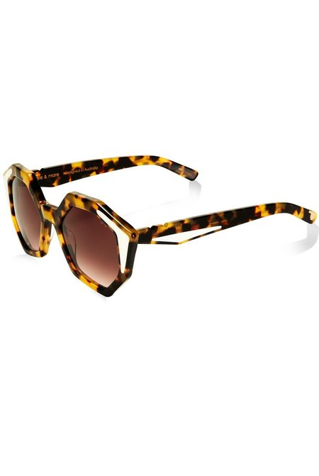 Pared Sole and Mare Sunglasses - Dark Tortoise/Ivory