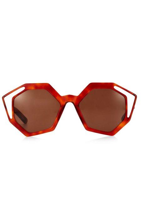 Pared Sole and Mare Sunglasses - Havana/White