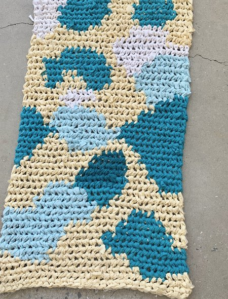 Brave Hand Textiles Crochet Rug - Cow Clouds