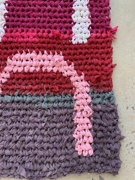 Brave Hand Textiles Crochet Throw Rug - Valentine Arches
