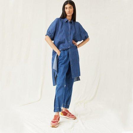 Closed Denim Shirt dress - mid blue