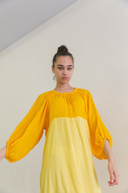 NIKKI CHASIN BALLAD DRESS - TANGERINE/MAZE