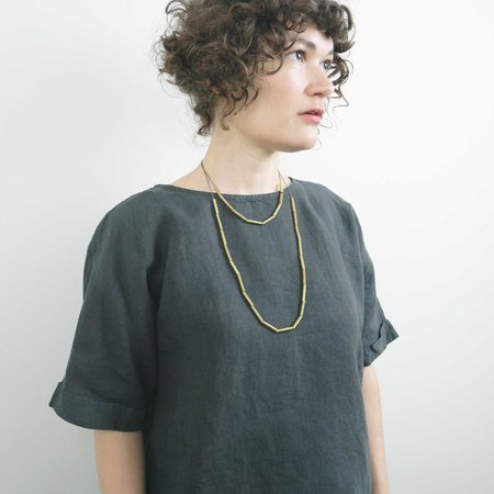 Hellbent Double Strand Bead Necklace - Brass