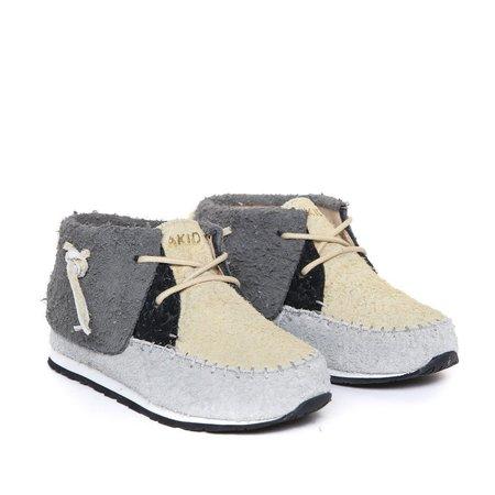 KIDS akid stone shoe - grey/tan/black