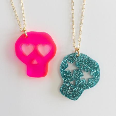 Kids Atsuyo Et Akiko Bff Necklace - Pink/Green