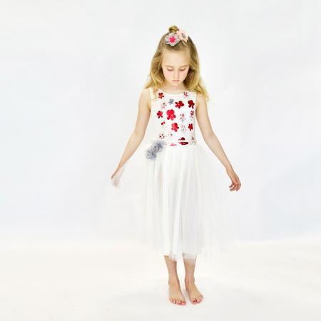 KIDS atsuyo et akiko le bouquet dress - ivory