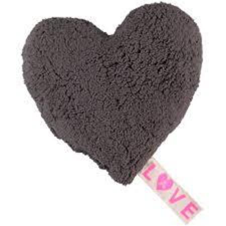 atsuyo et akiko love fleece pillow - grey