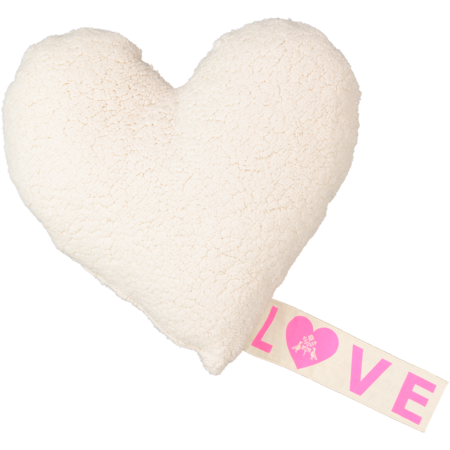 atsuyo et akiko love fleece pillow - ivory
