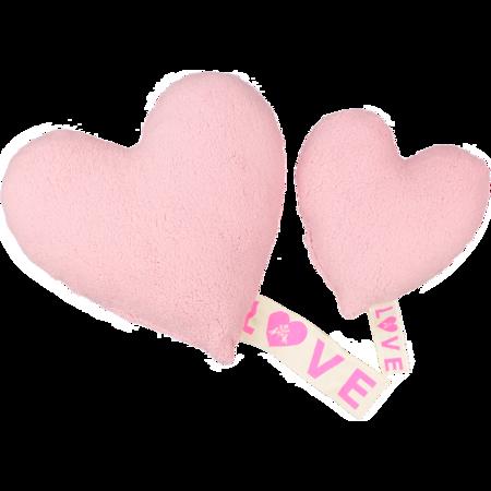 atsuyo et akiko love fleece pillow - pink