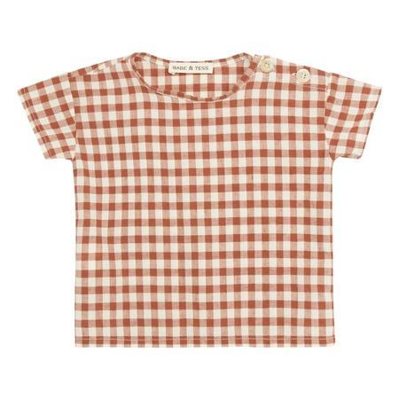 KIDS babe and tess t-shirt - check brick