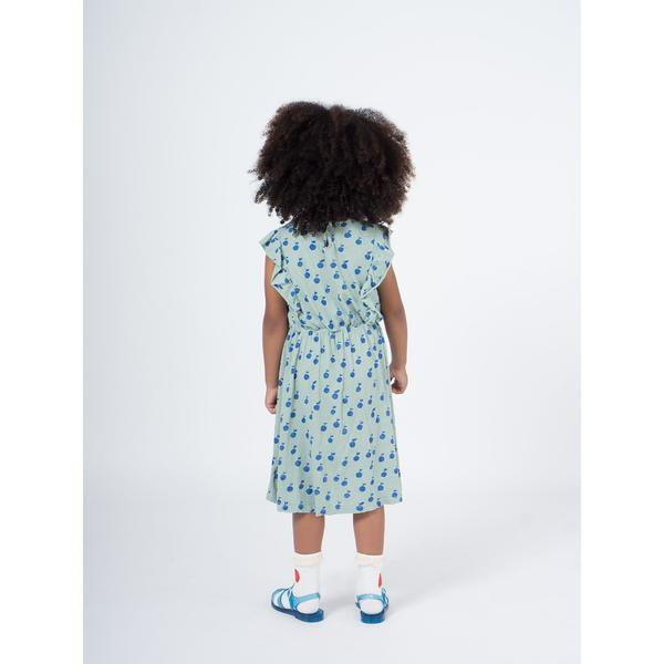 kids bobo choses apples dress - light green