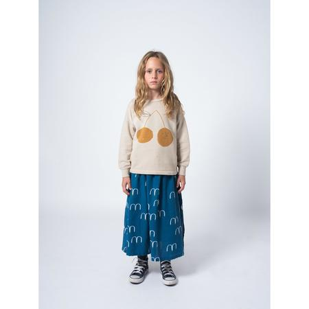 kids bobo choses birds midi skirt - navy blue