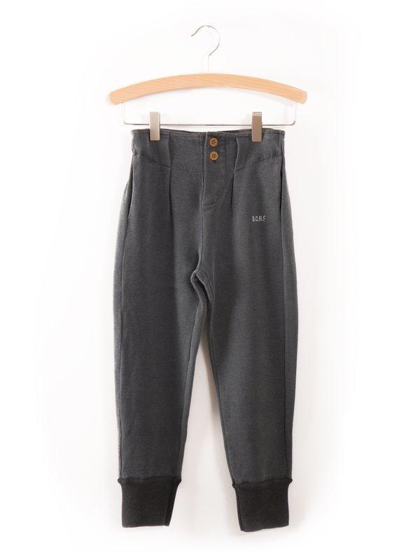 kids bobo choses buttons trousers - dark slate