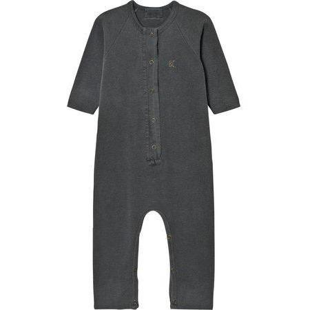 kids bobo choses fleece jumpsuit fish - vintage grey