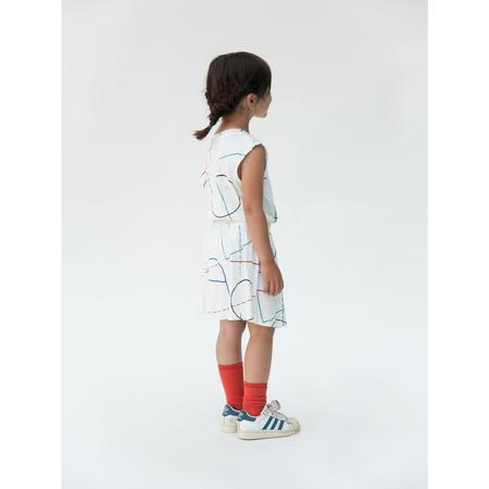 kids bobo choses tennis dress court - white