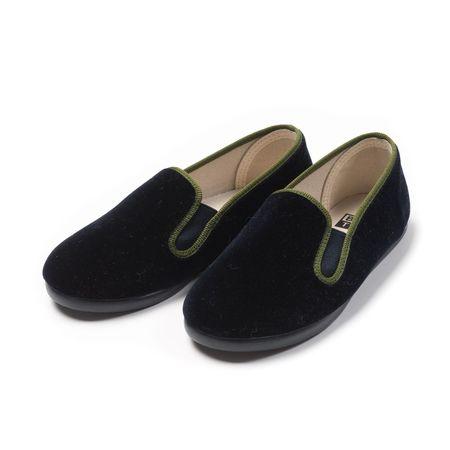 Kids Unisex Bonton Velvet Shoes - Navy blue