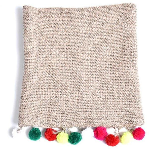 Kids Cabbages & Kings Double Wrap Infinity Pom Scarf - Oatmeal
