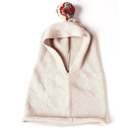 Kids Cabbages & Kings Alpaca Pom Snood - Oatmeal