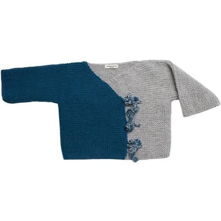 Kids Cabbages & Kings Alpaca Tie Wrap Color Block Cardigan