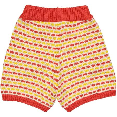KIDS hello simone coucou shorts - Red/Yellow