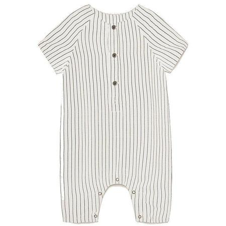 Kids Little Creative Factory Tap Baby Jumpsuit - White/Black Stripes