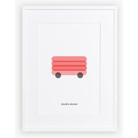 Kids Maison Deux Minimal Print Double Decker