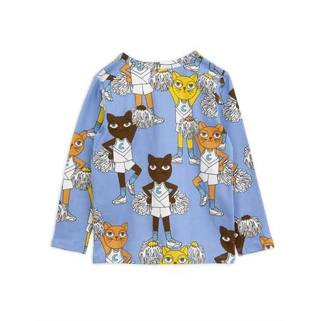 Kids Mini Rodini Cheercats Grandpa Shirt - Blue