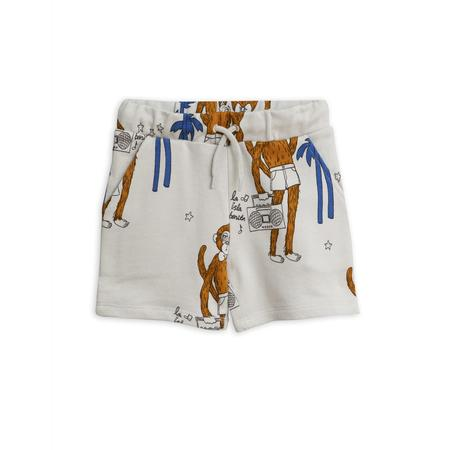 Kids Mini Rodini Cool Monkey Sweatshorts - Light Grey