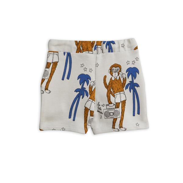 Kids Mini Rodini Cool Monkey Sweatshorts - Light Grey