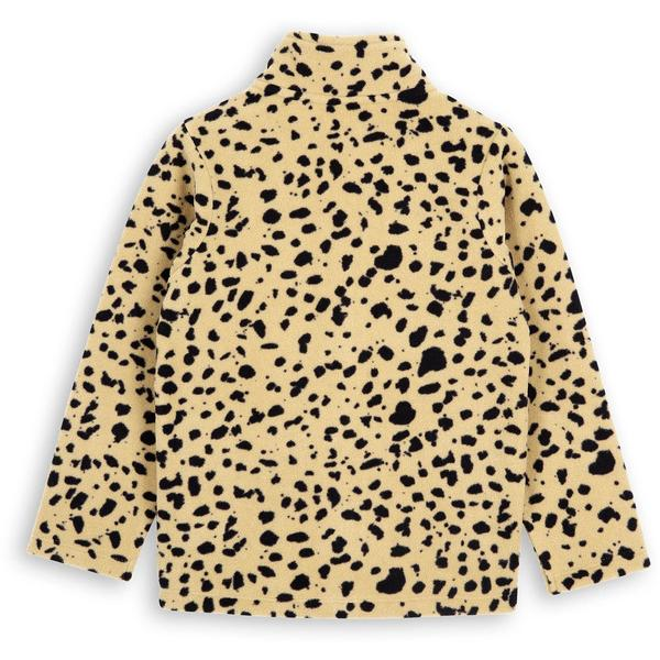 Kids Mini Rodini Fleece Spot Jacket - Beige