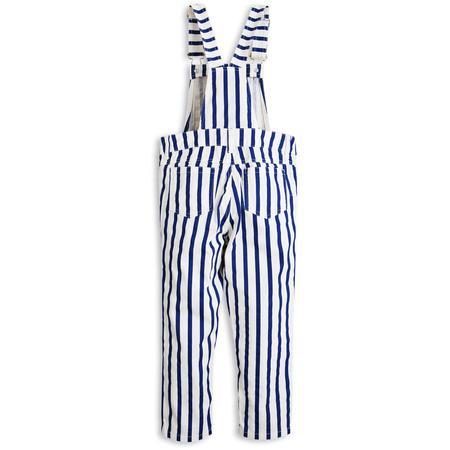 Kids Mini Rodini Dungarees - Blue Stripe