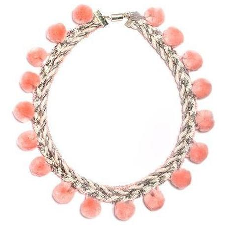 Kids Modern Queen Sparkle Pom Pearls Necklace
