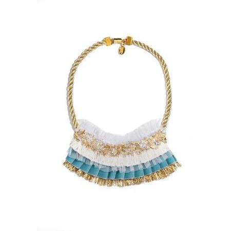 Kids Modern Queen Winter's Night Necklace - Gold/Blue