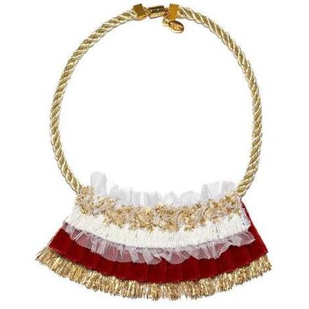 Kids Modern Queen Winter's Night Necklace - Gold/Red