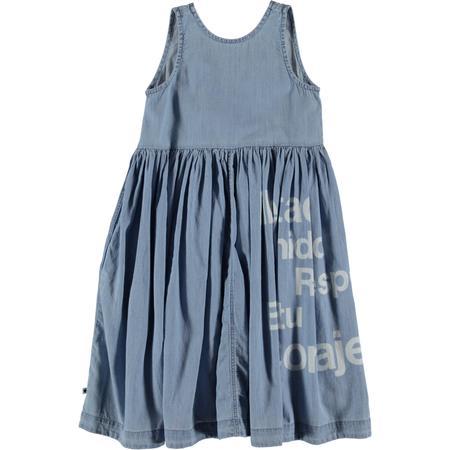 Kids Molo Caera Summer Dress - Wash Indigo
