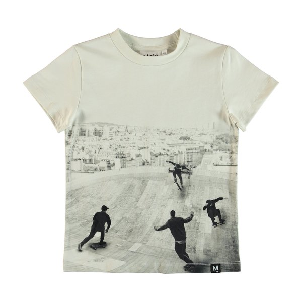 Kids molo raymont free skate t-shirt - Off White
