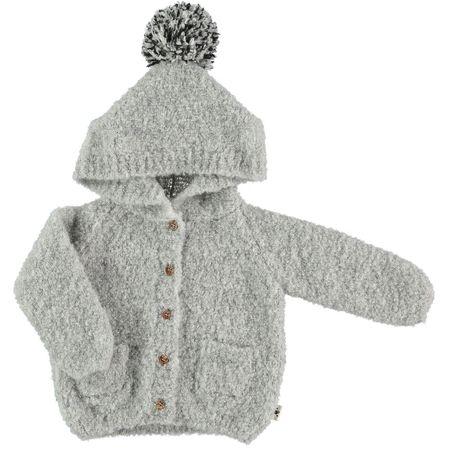kids my little cozmo knit jacket - soft grey