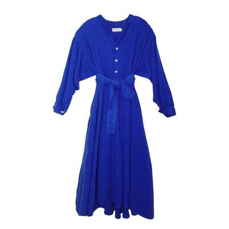 Nico Nico Lennox Rayon Prairie Dress - Cobalt
