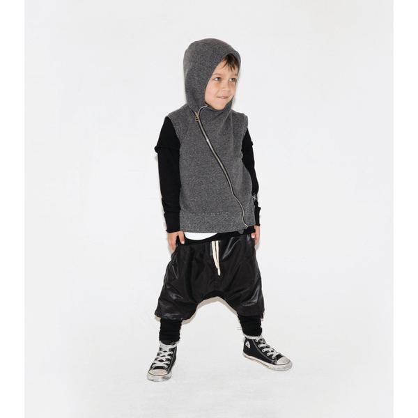 Kids Nununu Asymmetrical Vest - Black